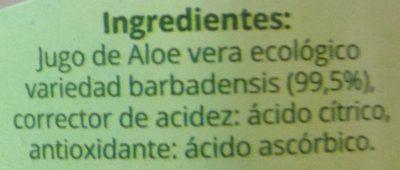 Jugo de Aloe vera con pulpa - Ingredientes