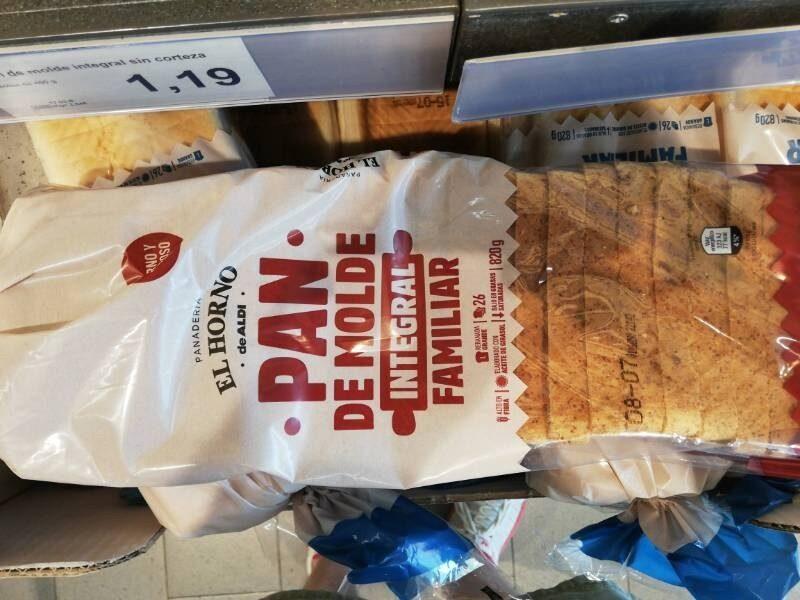 Pan de molde integral familiar - Produit
