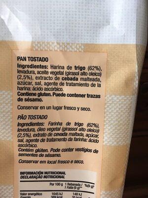 Tostadas tradicionales - Ingrediënten