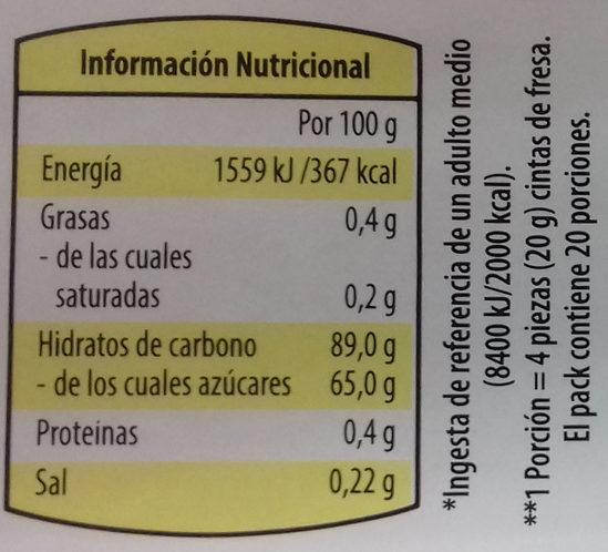 Dulcipica manzana - Informació nutricional