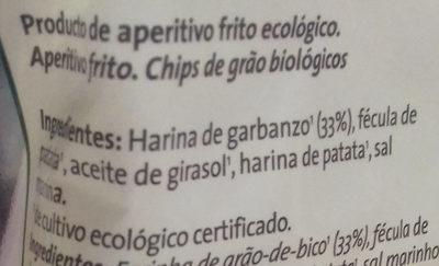Chips de garbanzos ecológicos - Ingredientes