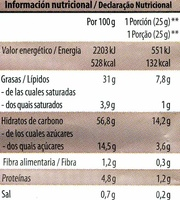 Chips vegetales - Voedingswaarden - es