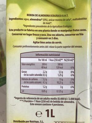 Bebida de almendra - Producto - es
