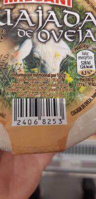 Cuajada de oveja - Información nutricional