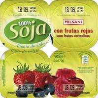 """Postre de soja """"Milsani"""" Frutos rojos - Producto"""