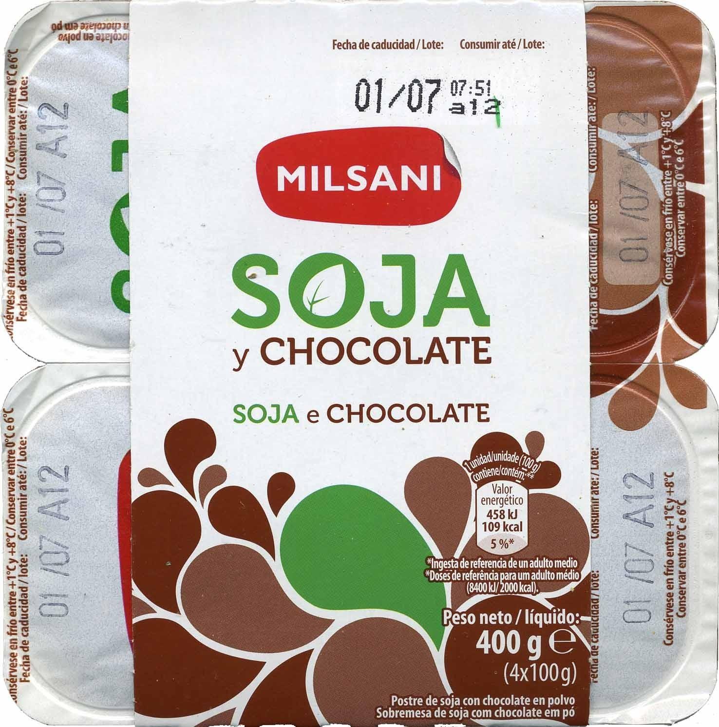 Postre de soja y chocolate - Producto - es