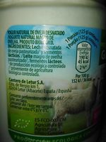 Yogur de oveja entero - Ingrediënten - fr