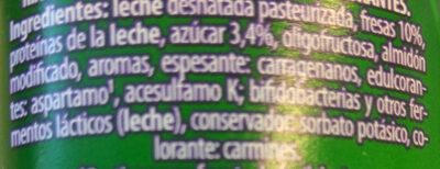 Milsani Desnatado - Ingredients - es