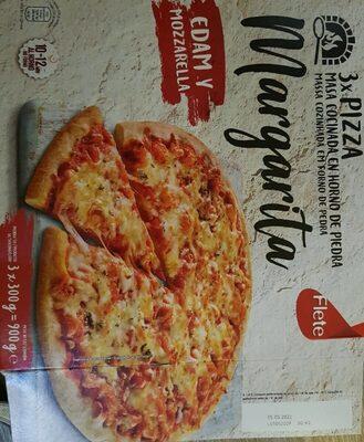 3 Pizzas Margarita - Produit - es
