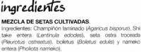 """Mezcla de setas congeladas """"El Cultivador"""" - Ingredientes - es"""