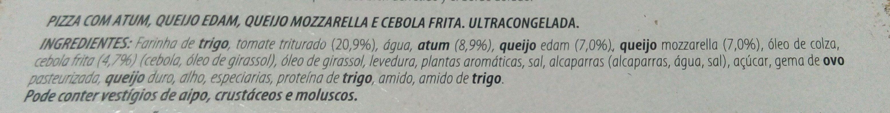 Pizza Atún Masa Fina - Ingredients