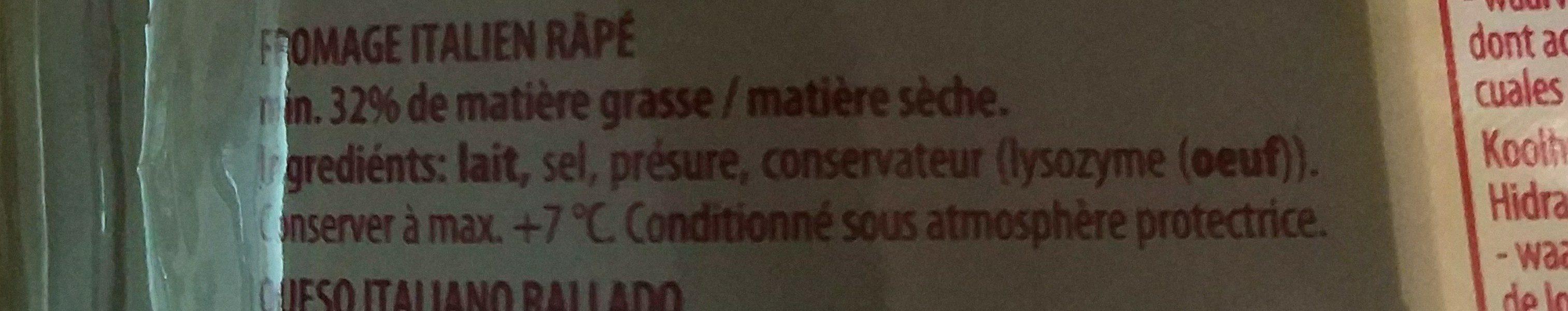 Grana Padano Rapée - Ingrediënten - fr