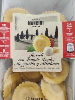 Ravioli con tomate Asado, mozzarella y albahaca - Produit