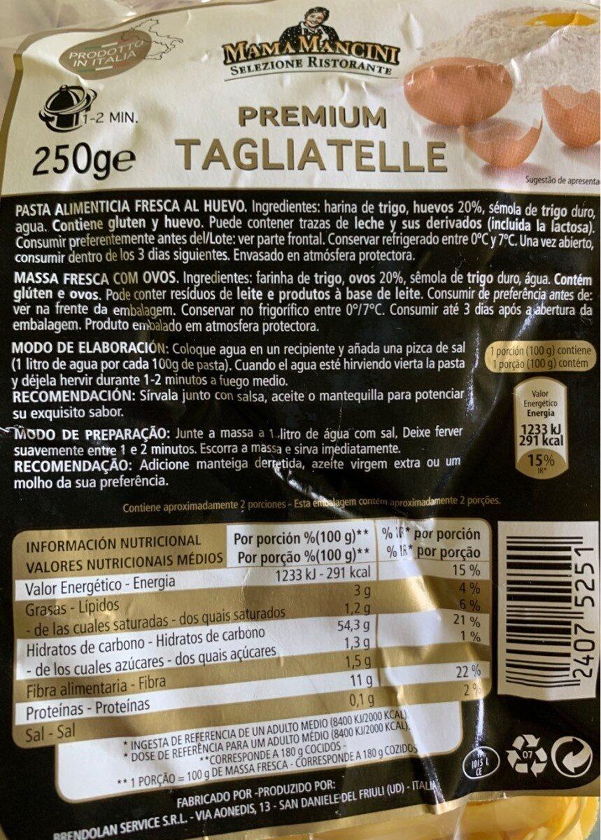 Premium tagliatelle - Product - es
