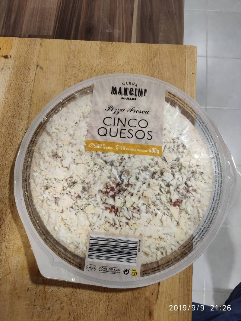 Pizza fresca 5 quesos - Producto