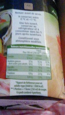 Gazpacho Tradicional - Informations nutritionnelles