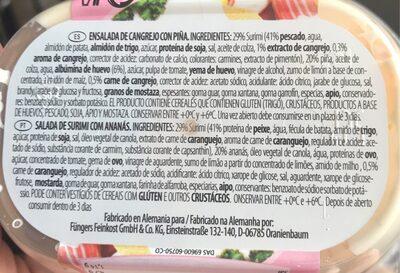 Ensalada americana cin repollo y zanahoria - Ingrédients