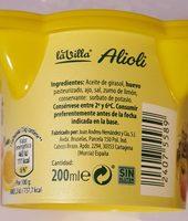 Alioli - Ingredientes