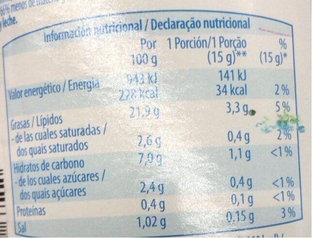 Salda ligera maionese leve - Informació nutricional - es