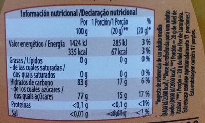 Miel de montaña - Informations nutritionnelles - es