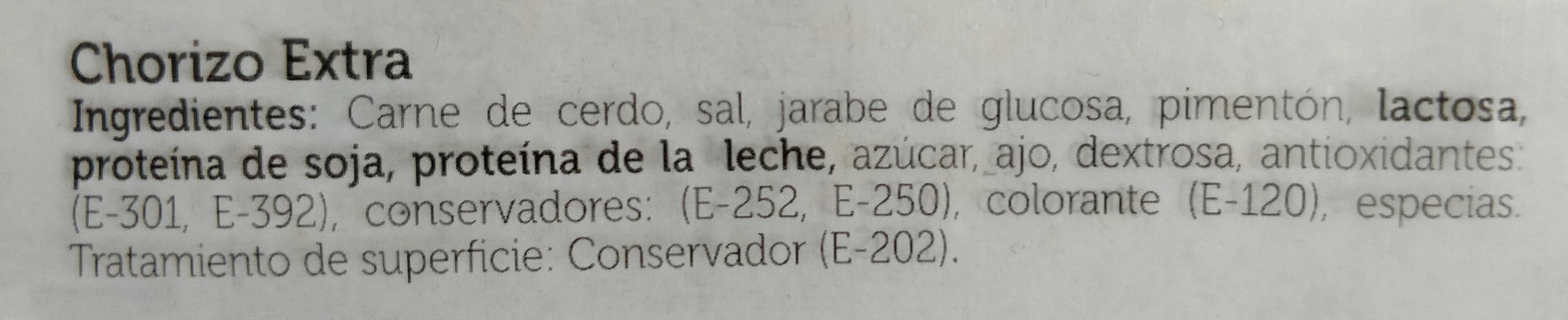 Chorizo Extra - Ingredients
