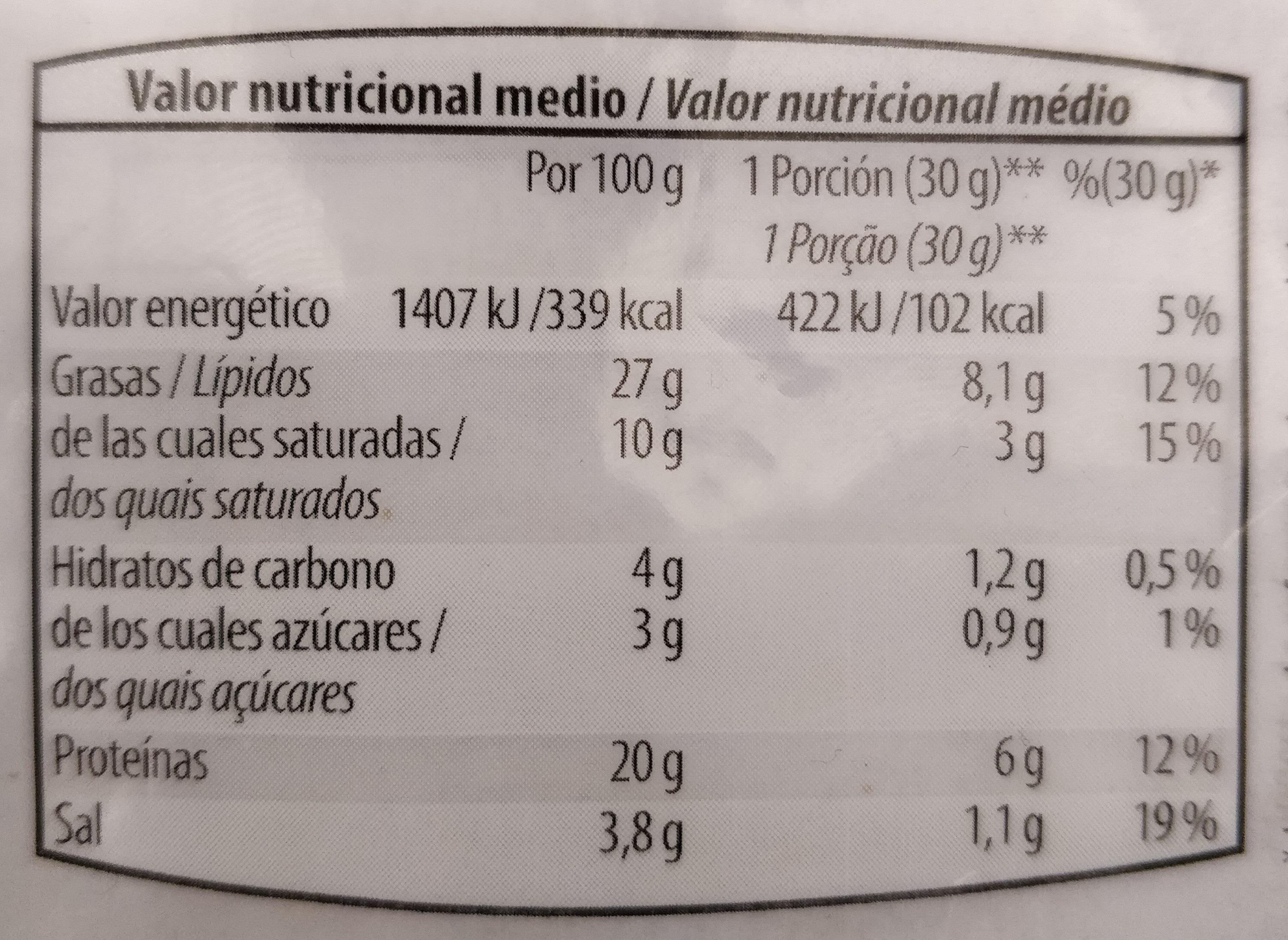 Chorizo Extra - Nutrition facts
