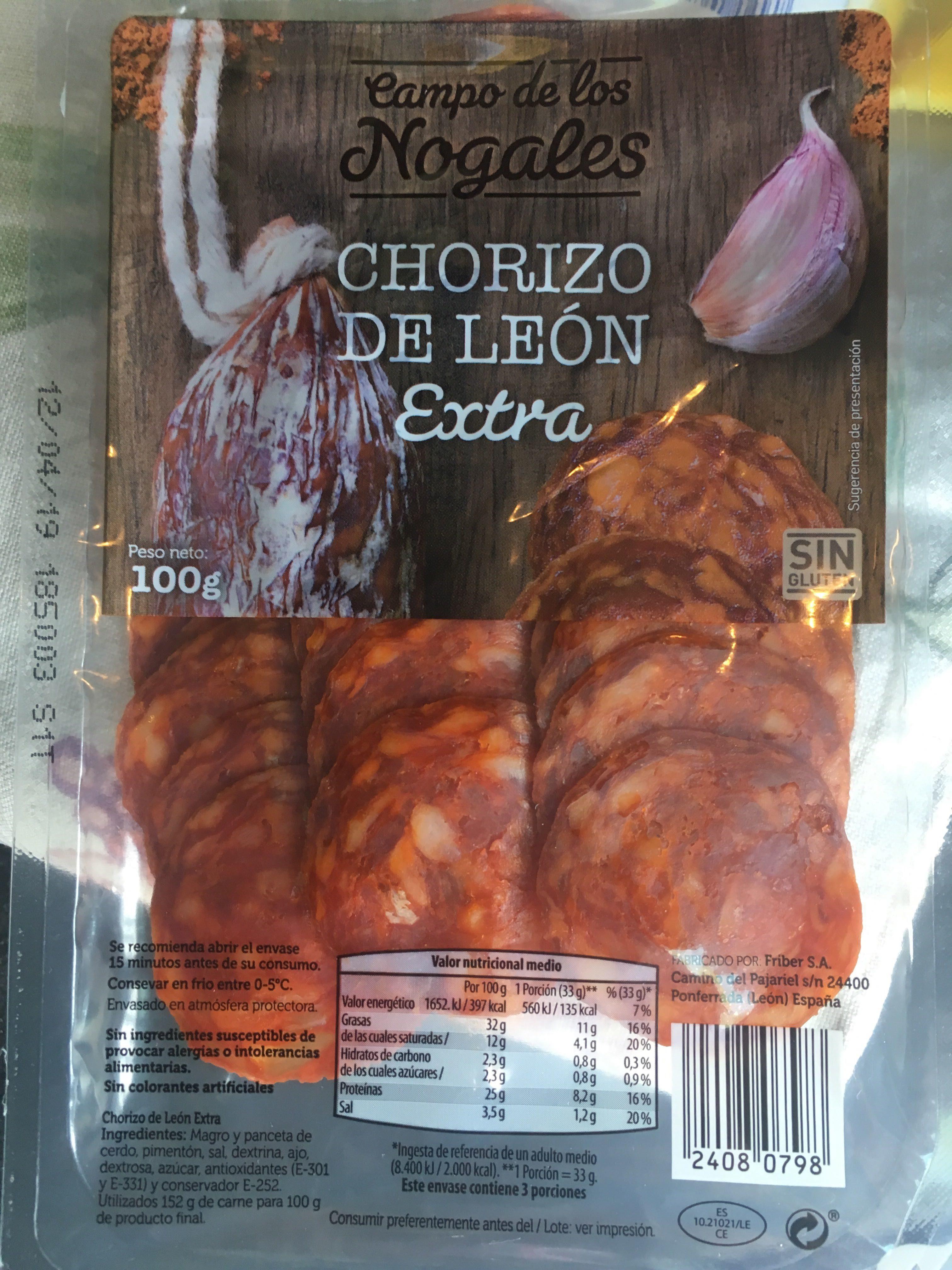 Chorizo de León picante - Producte