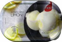 Sorbete con limón - Producto - es