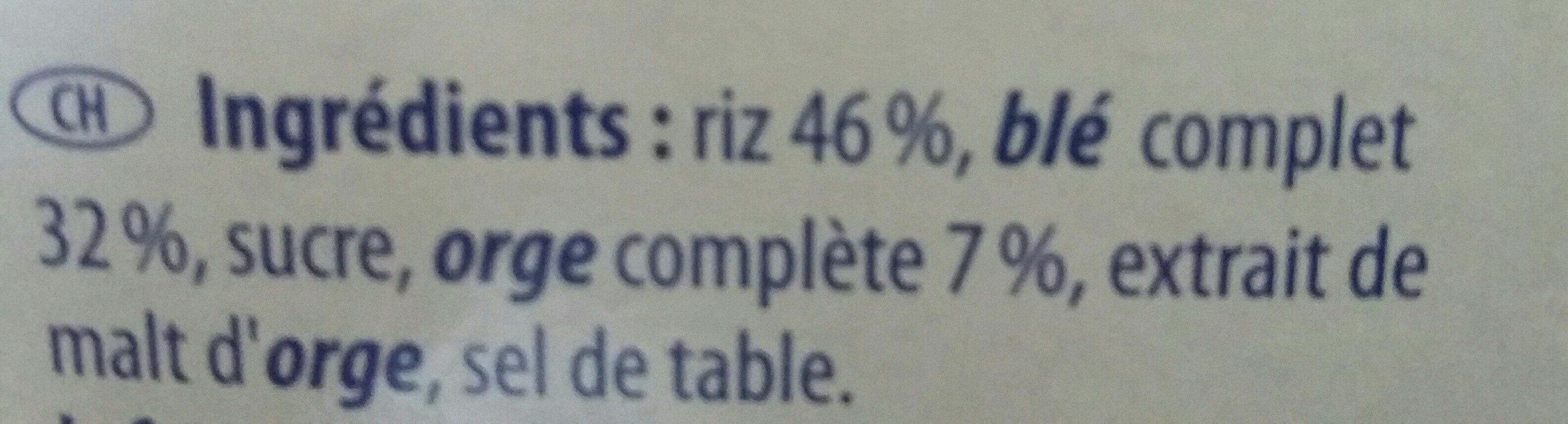 Fit & Crunch klassik - Ingrédients - fr