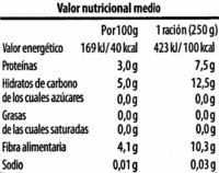 Judia verde plana troceada - Nutrition facts - es
