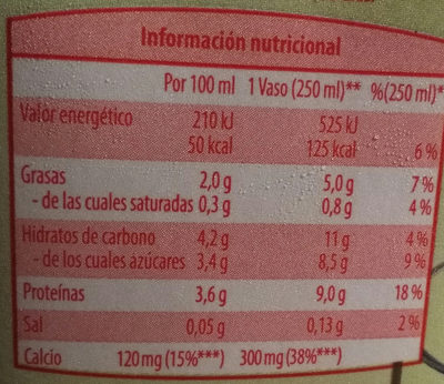 Bebida de soja con calcio BIO - Nutrition facts - fr
