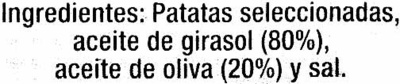 Patatas fritas al perol Extra-Gruesas - Ingredients