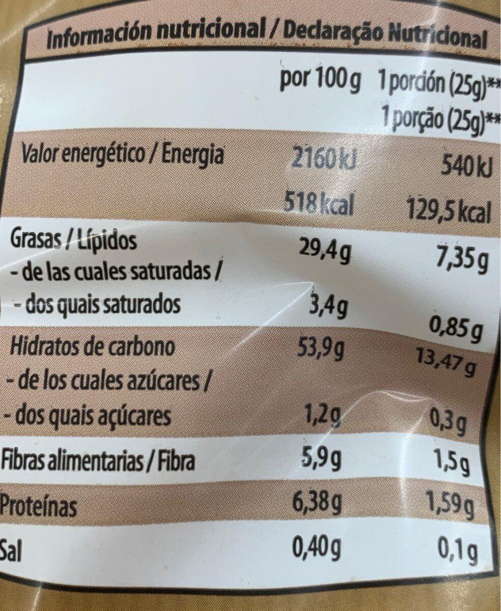 Patatas fritas al perol extra gruesas - Información nutricional - es
