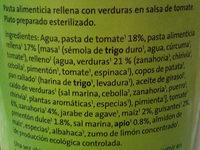 Raviolis de ricotta en salsa de tomate - Ingrédients