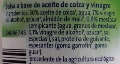 Veganesa - Ingredients - es