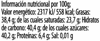 Oster Phantasie - Información nutricional - es