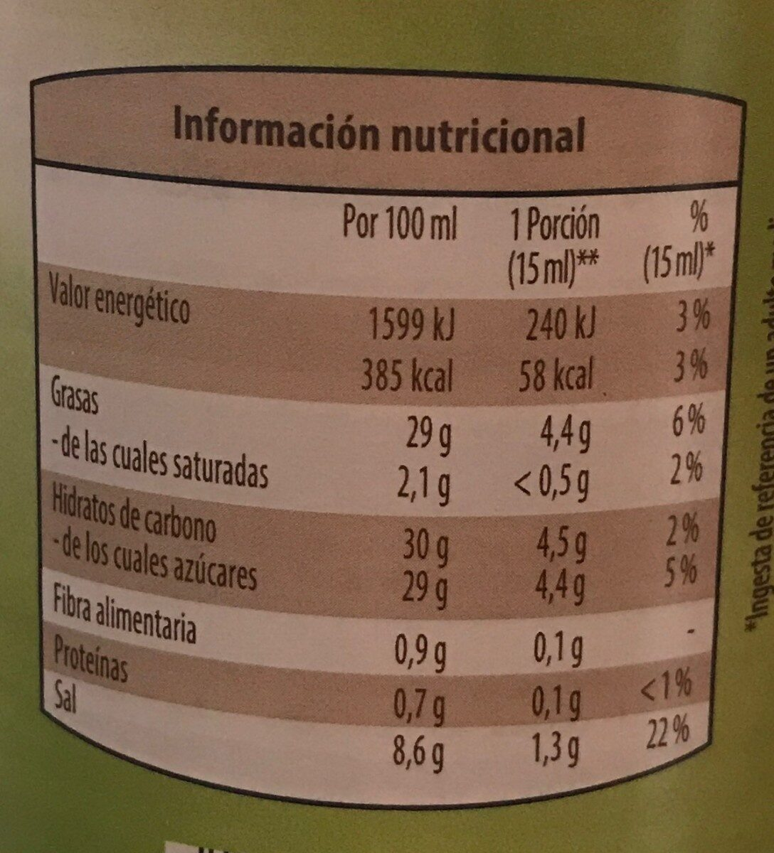 Sriracha Mayo - Voedingswaarden - es