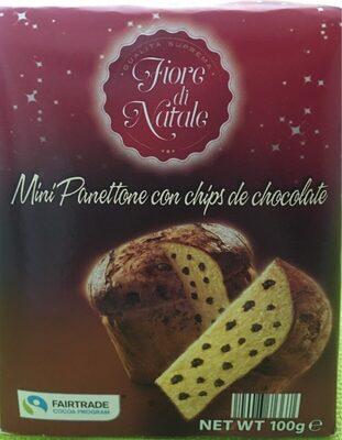 Mini panettone con chips de chocolate