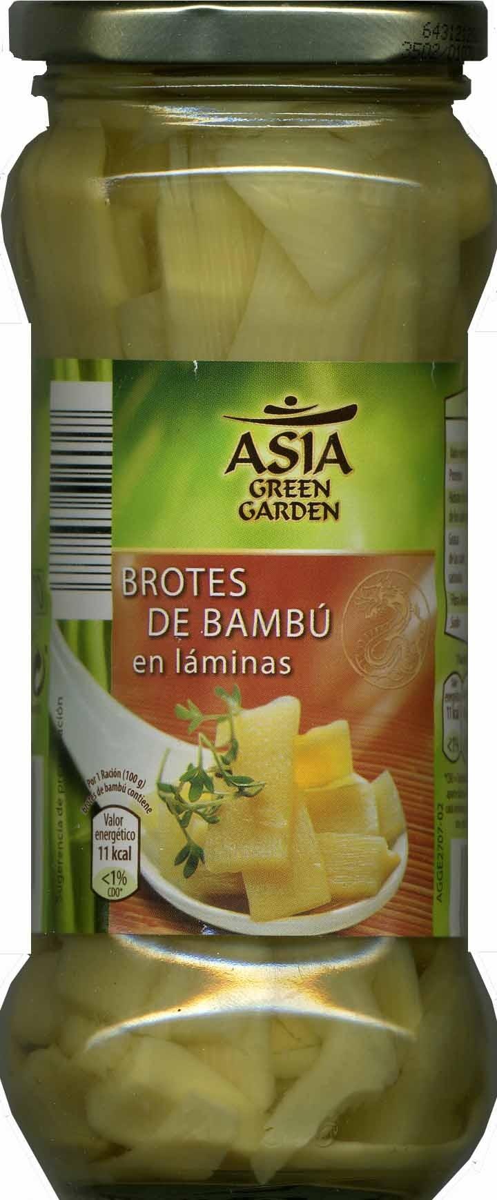 Brotes tiernos de bambú en láminas - Product