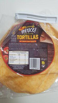 Tortillas de trigo con tomate