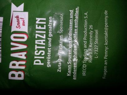 Kalifornische Pistazien - Ingredients