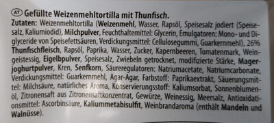 Wrap Thunfisch - Ingrédients