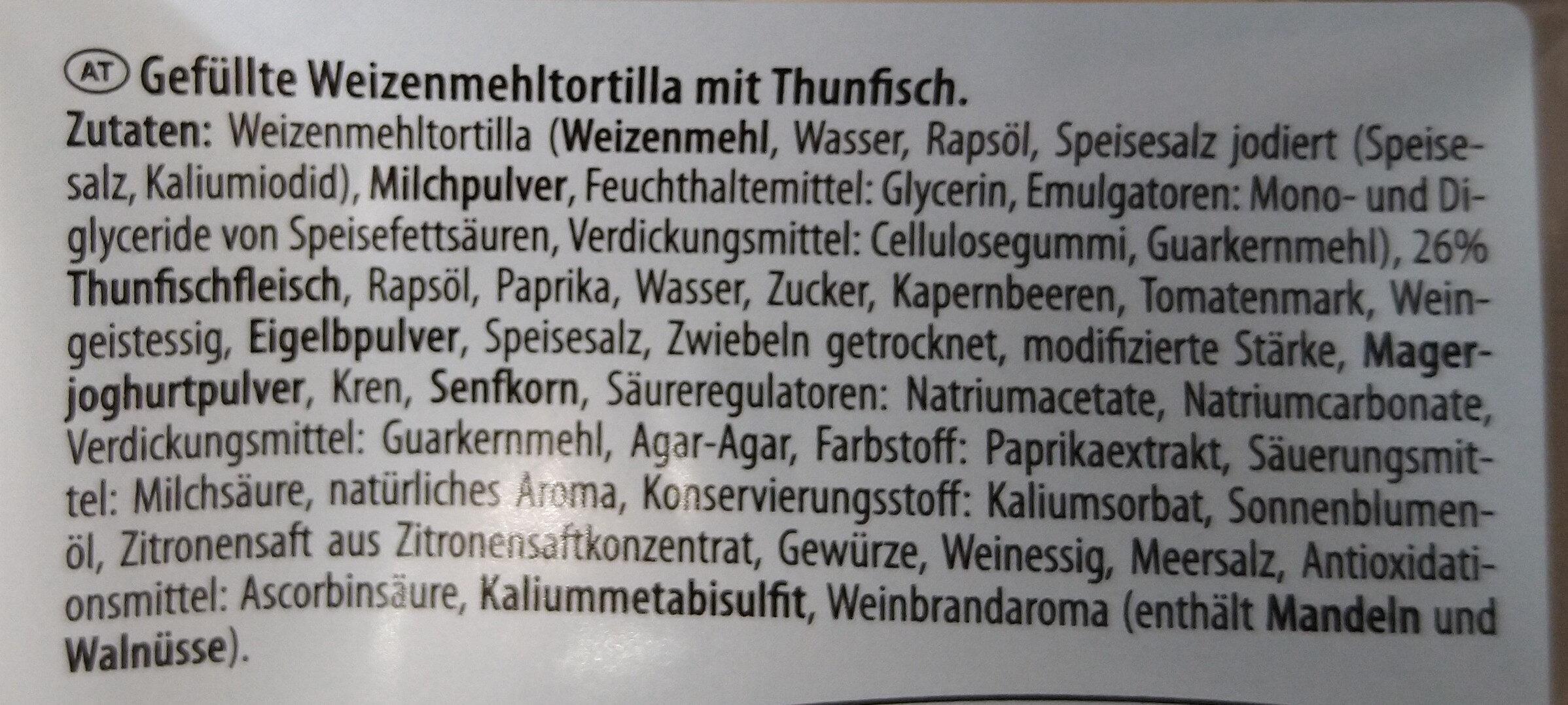Wrap Thunfisch - Ingrediënten - de