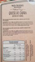 Masa crujiente pizza - Información nutricional