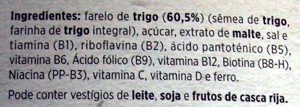 Salvado de trigo - Ingrédients - pt