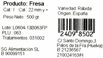 Fresas - Ingredientes