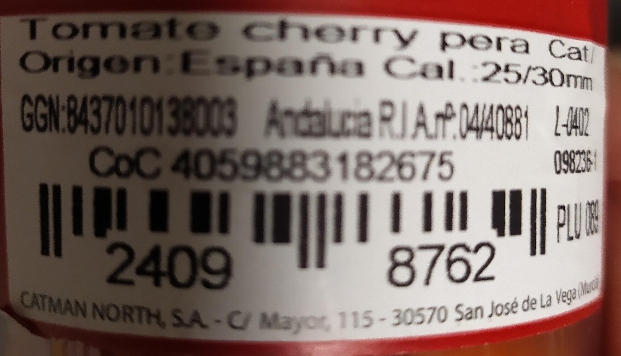 Tomate cherry pera - Inhaltsstoffe - fr