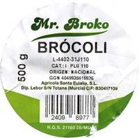 "Brócoli ""Mr. Broko"" - Ingredientes"