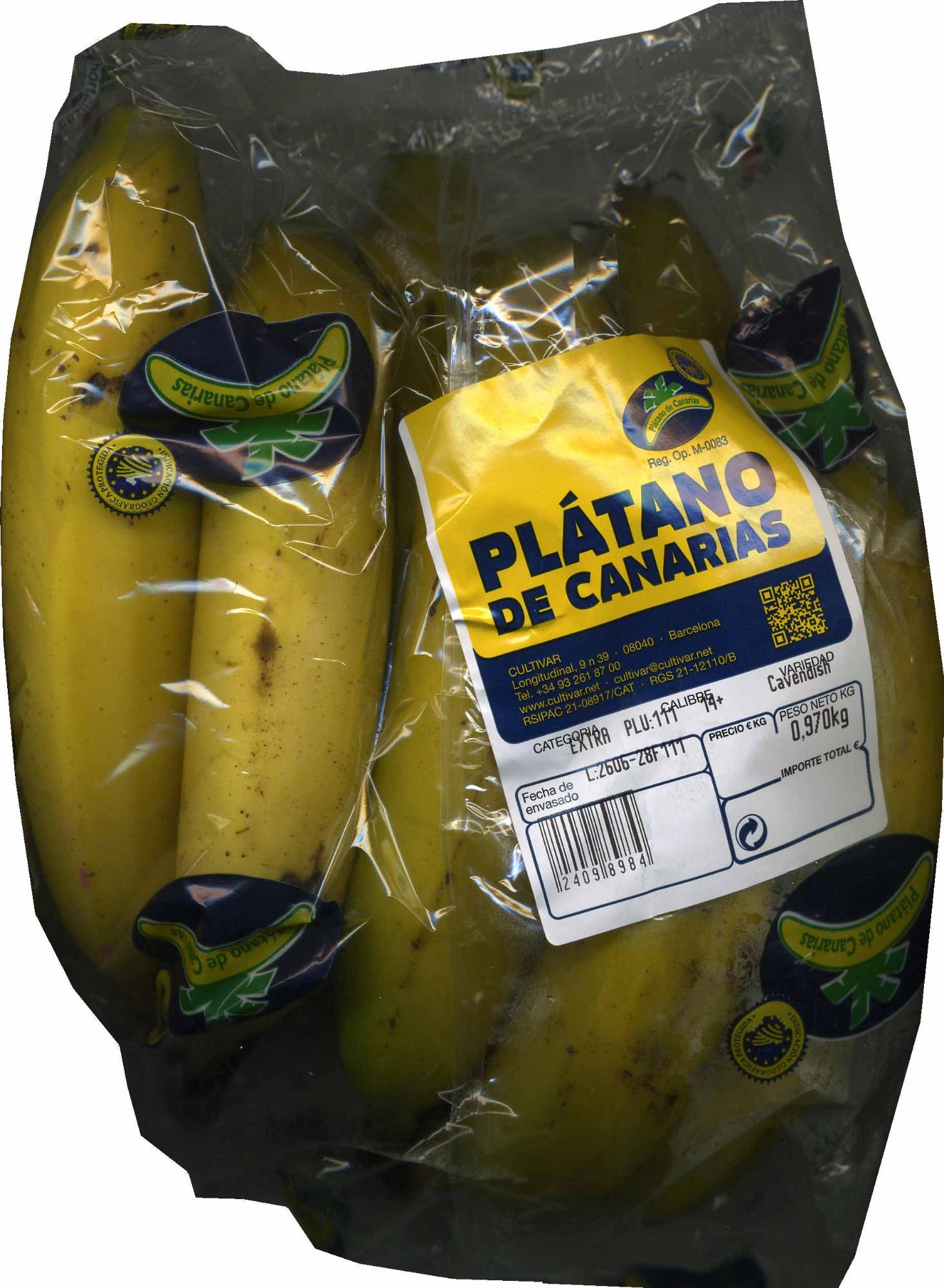 Plátano de Canarias I.G.P - Produit