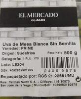 Uva de mesa blanca sin semilla - Produit - es